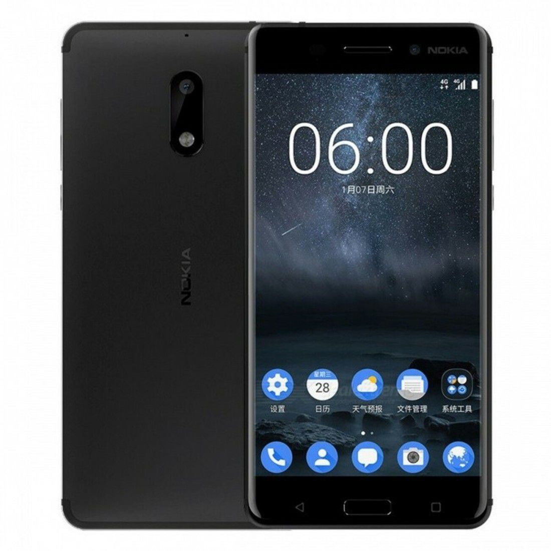 Smartphone Nokia 6 3GB Ram Tela 5.5 32GB Camera 16MP - Preto
