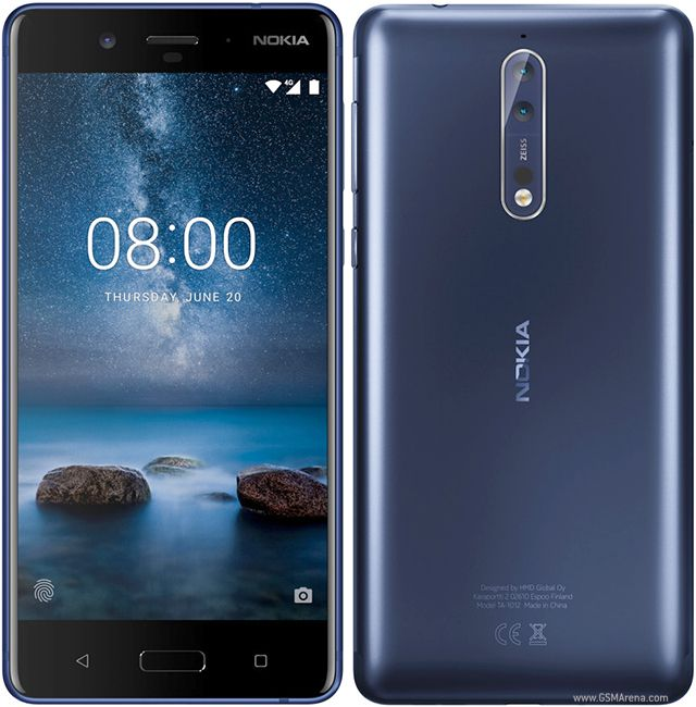 Smartphone Nokia 8 4GB Ram Tela 5.3 64GB Camera Dupla 13+13MP - Azul