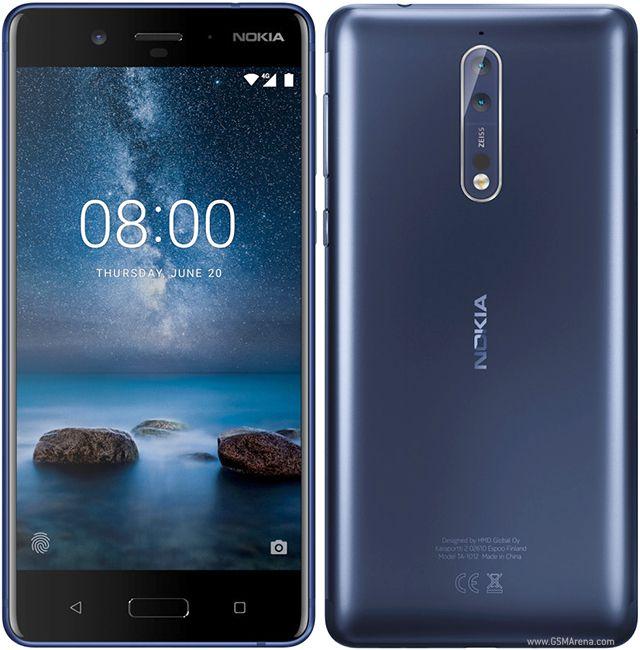 Smartphone Nokia 8 4GB Ram Tela 5.3 64GB Camera Dupla 13+13MP - Azul  - PAGDEPOIS