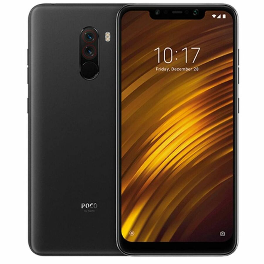 Smartphone Pocophone F1 6GB Ram Tela 6.18 64GB Camera Dupla 12+5MP - Preto