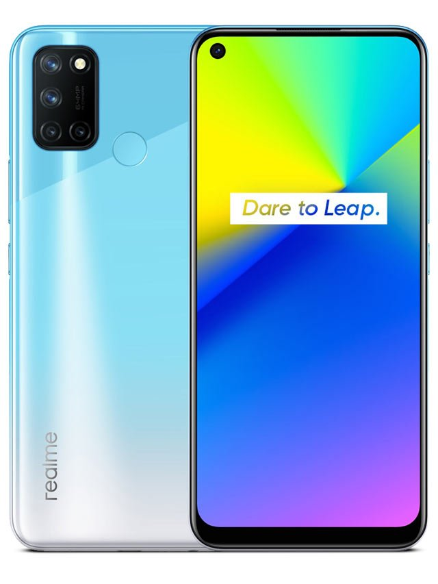 Smartphone Realme 7i 4GB Ram Tela 6.50 128GB Camera Quádrupla 64+8+2+2MP - Azul Polar