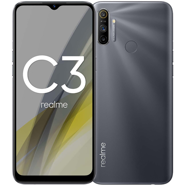 Smartphone Realme C3 3GB Ram Tela 6.50 64GB Camera Tripla 12+2+2MP - Cinza