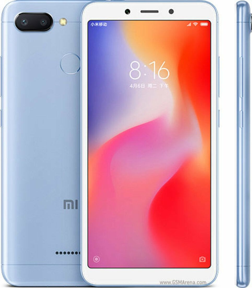 Smartphone Redmi 6 4GB Ram Tela 5.45 64GB Camera Dupla 12+5MP - Azul