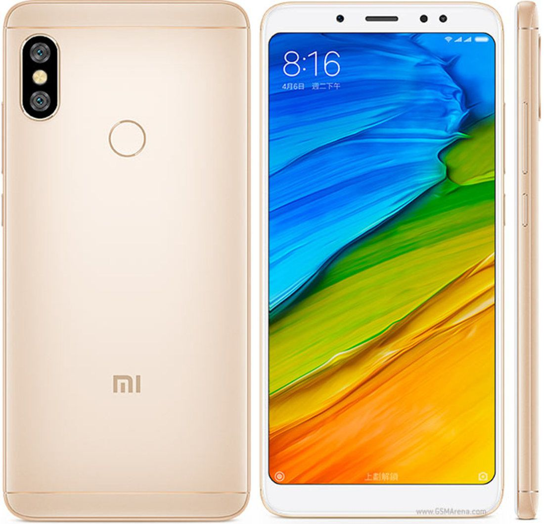 Smartphone Redmi Note 5 4GB Ram Tela 5.99 64GB Camera dupla 12+5MP - Dourado