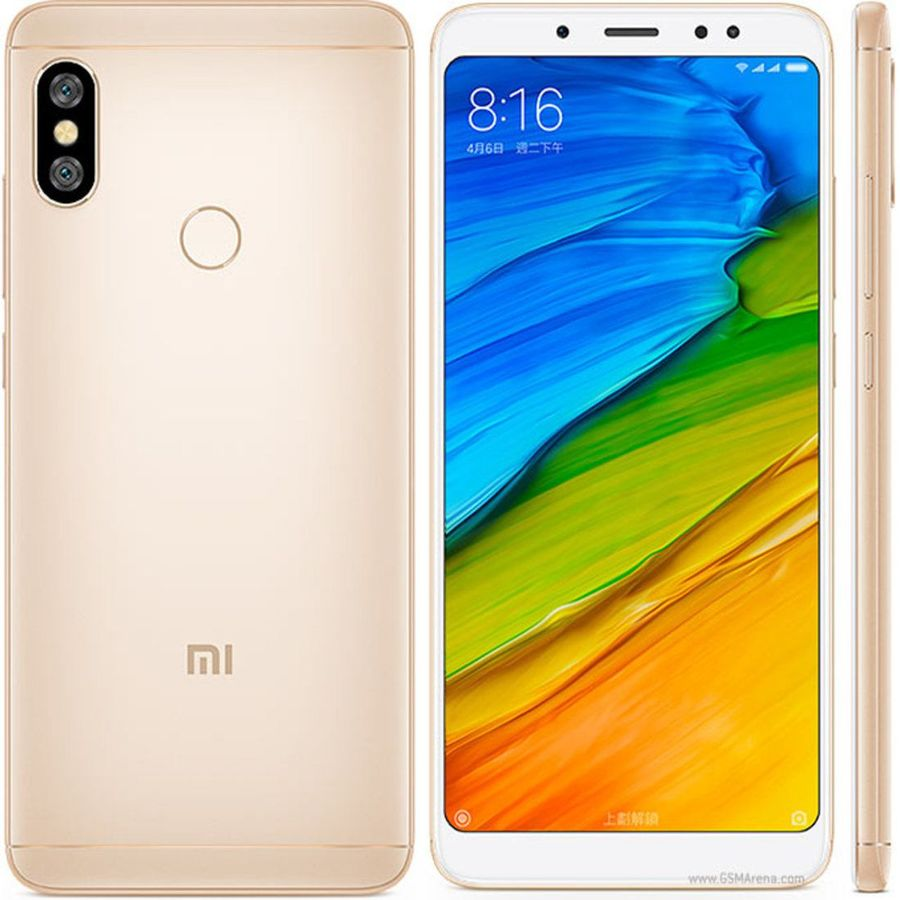 Smartphone Xiaomi Redmi Note 5 4GB Ram Tela 5.99 64GB Camera dupla 12+5MP - Dourado  - PAGDEPOIS