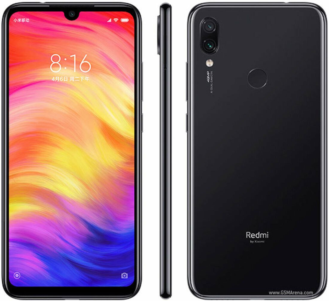 Smartphone Xiaomi Redmi Note 7 4GB Ram Tela 6.3 64GB Camera Dupla 48+5MP Preto