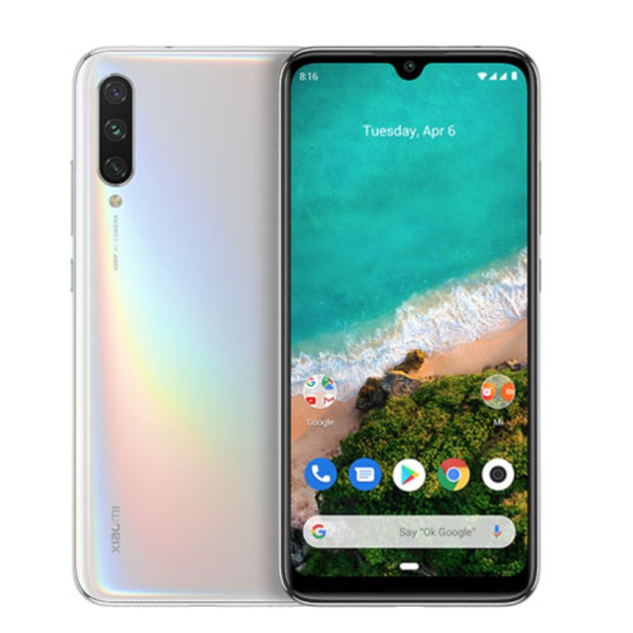 Smartphone Xiaomi Mi A3 4GB Ram Tela 6.08 128GB Camera Tripla 48+8+2MP - Branco