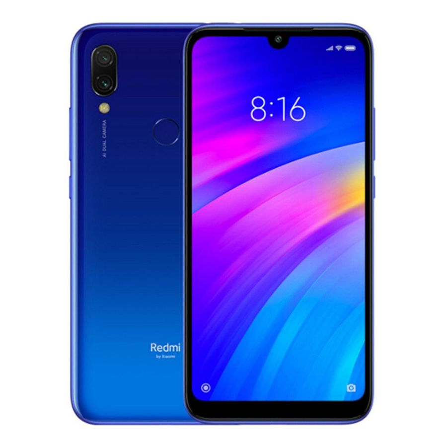 Smartphone Xiaomi Redmi 7 3GB Ram Tela 6.26 32GB Camera Dupla 12+2MP - Azul
