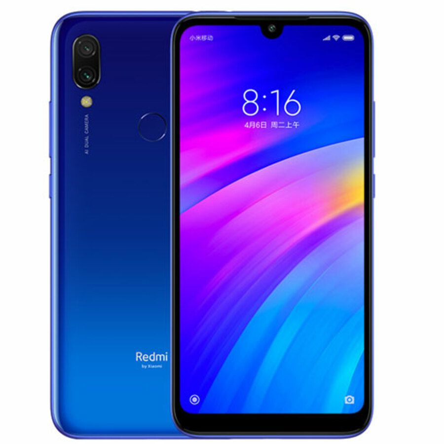 Smartphone Xiaomi Redmi 7 3GB Ram Tela 6.26 64GB Camera Dupla 12+2MP - Azul