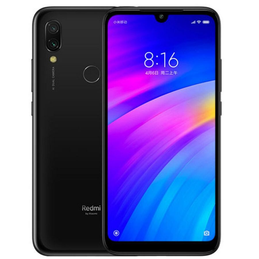 Smartphone Xiaomi Redmi 7 3GB Ram Tela 6.26 64GB Camera Dupla 12+2MP - Preto