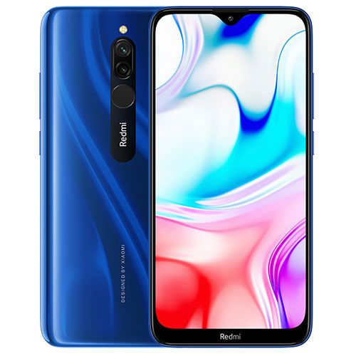 Smartphone Xiaomi Redmi 8 4GB Ram Tela 6.22 64GB Camera Dupla 12+2MP - Azul