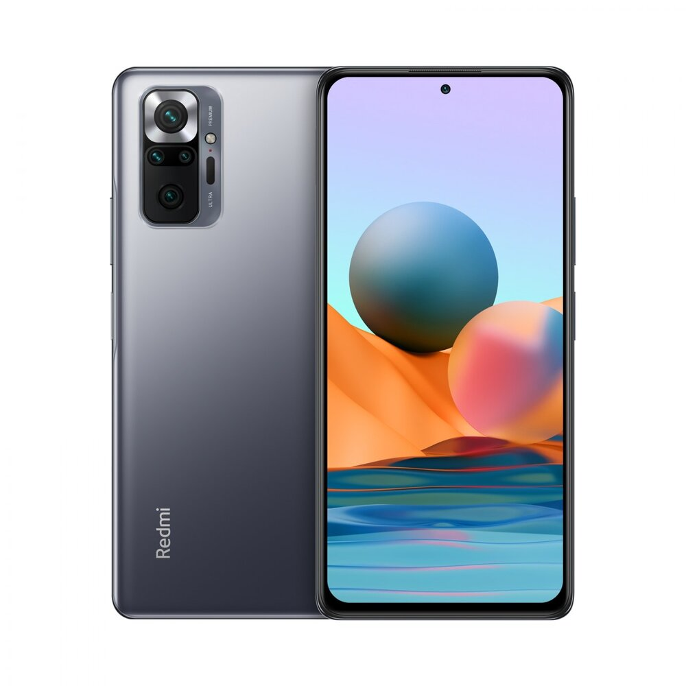 Smartphone Xiaomi Redmi Note 10 4GB Ram Tela 6.43 64GB Camera Quádrupla 48+8+2+2MP - Cinza