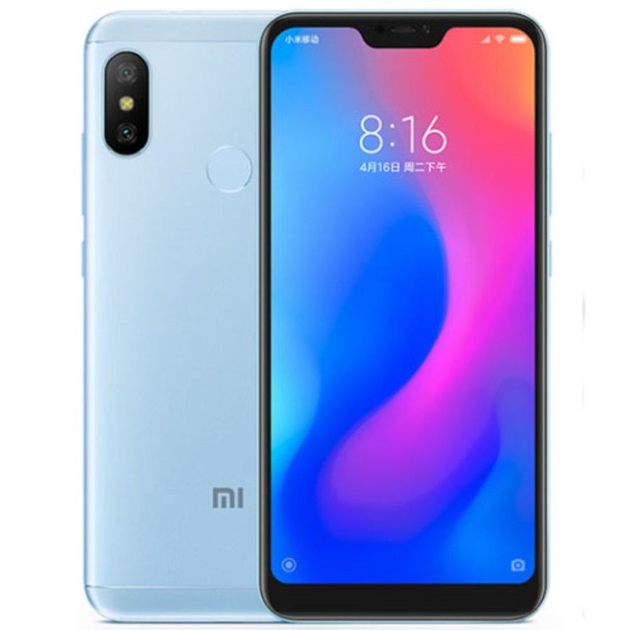 Smartphone Xiaomi Redmi Note 6 Pro 4GB Ram Tela 6.26 64GB Camera dupla 12+5MP - Azul