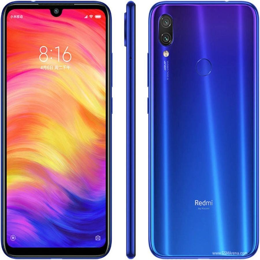 Smartphone Xiaomi Redmi Note 7 4GB Ram Tela 6.3 64GB Camera Dupla 48+5MP Azul