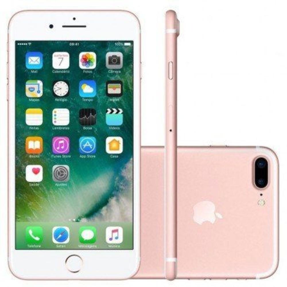 Vitrine: iPhone 7 Plus Apple 128GB Rose Tela 5,5 Câmera Traseira Dupla 12MP iOS