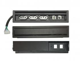Régua De Tomada SLIM-203E Com 3 Tomadas, 1 RJ45, 1 HDMI
