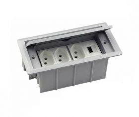 Tomada Para Embutir Com USB Carregador 2.1A