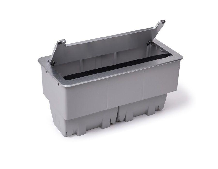 Caixa De Tomada Para Embutir Em Mesas Alumínio Anodizado