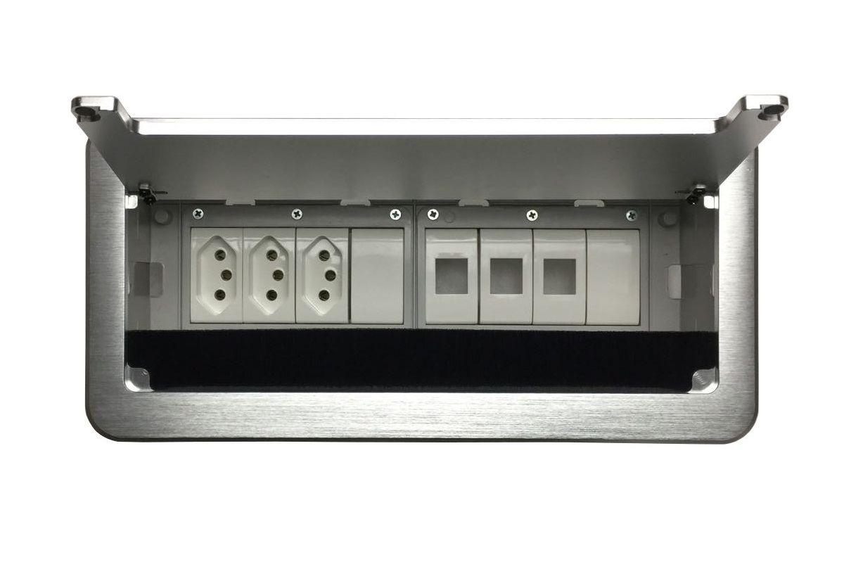 Caixa De Tomada Para Embutir Em Mesas Linha QM6-M10