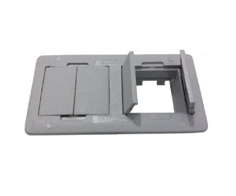 Caixa de Tomada Para Mesa Em ABS Sem Conexão QMF4-M