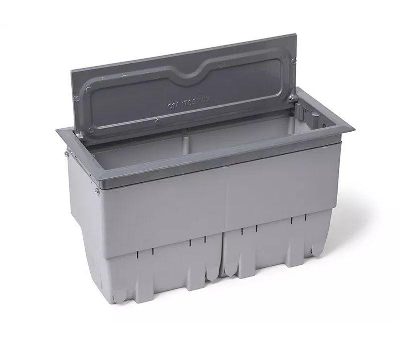 Caixa De Tomada Para Mesas Em Alumínio Pintado