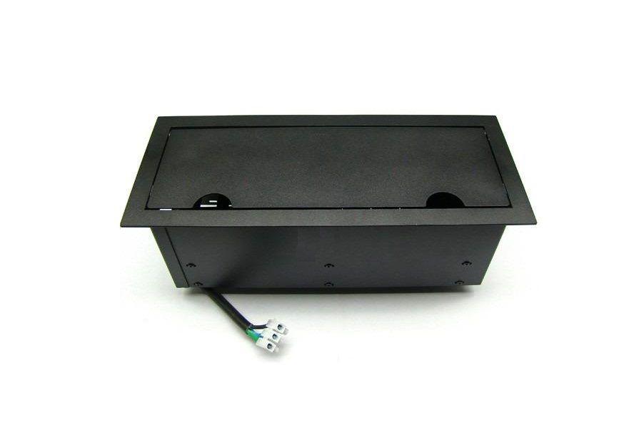 Caixa de Tomada Para Mesas Em Aço 1008 Completa  DMEX12-M15