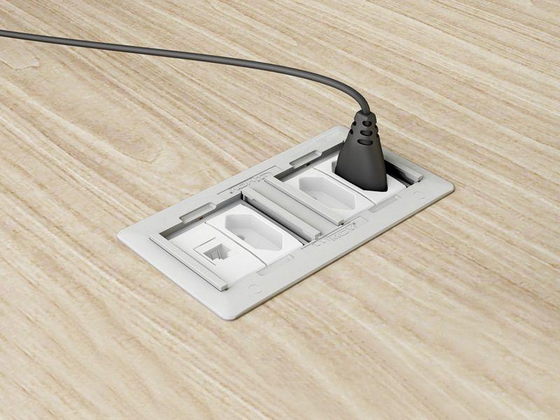 Caixa De Tomada Simples Em ABS Completa, HDMI, Rede - QMF4-M1