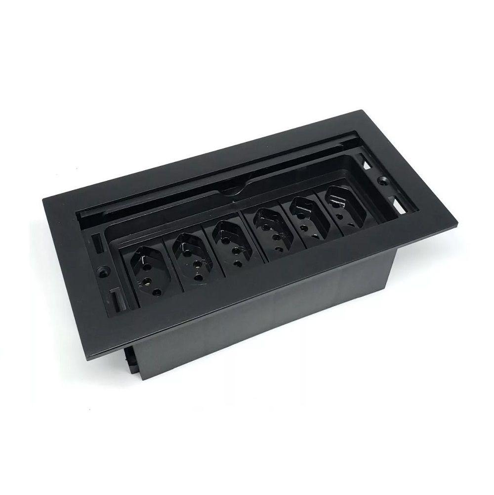 Caixa Tomada Completa Para Embutir Em Mesas  - QMF6-M11