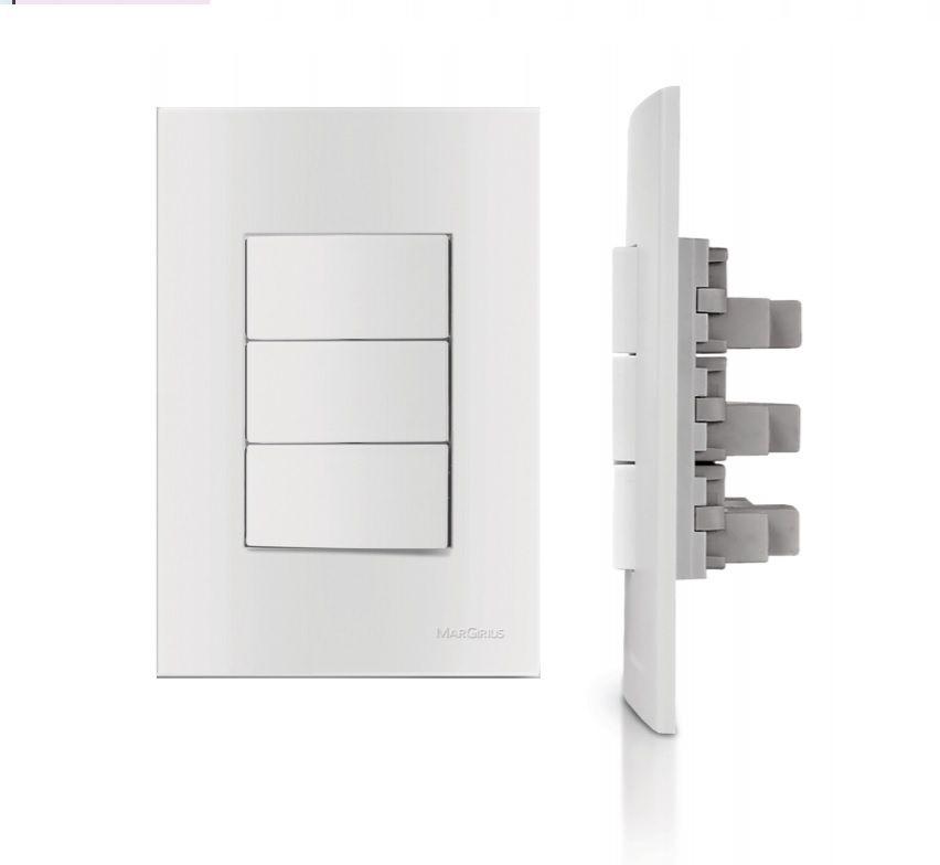 Interruptor Simples Com Tomada De Parede 4x2 Sleek