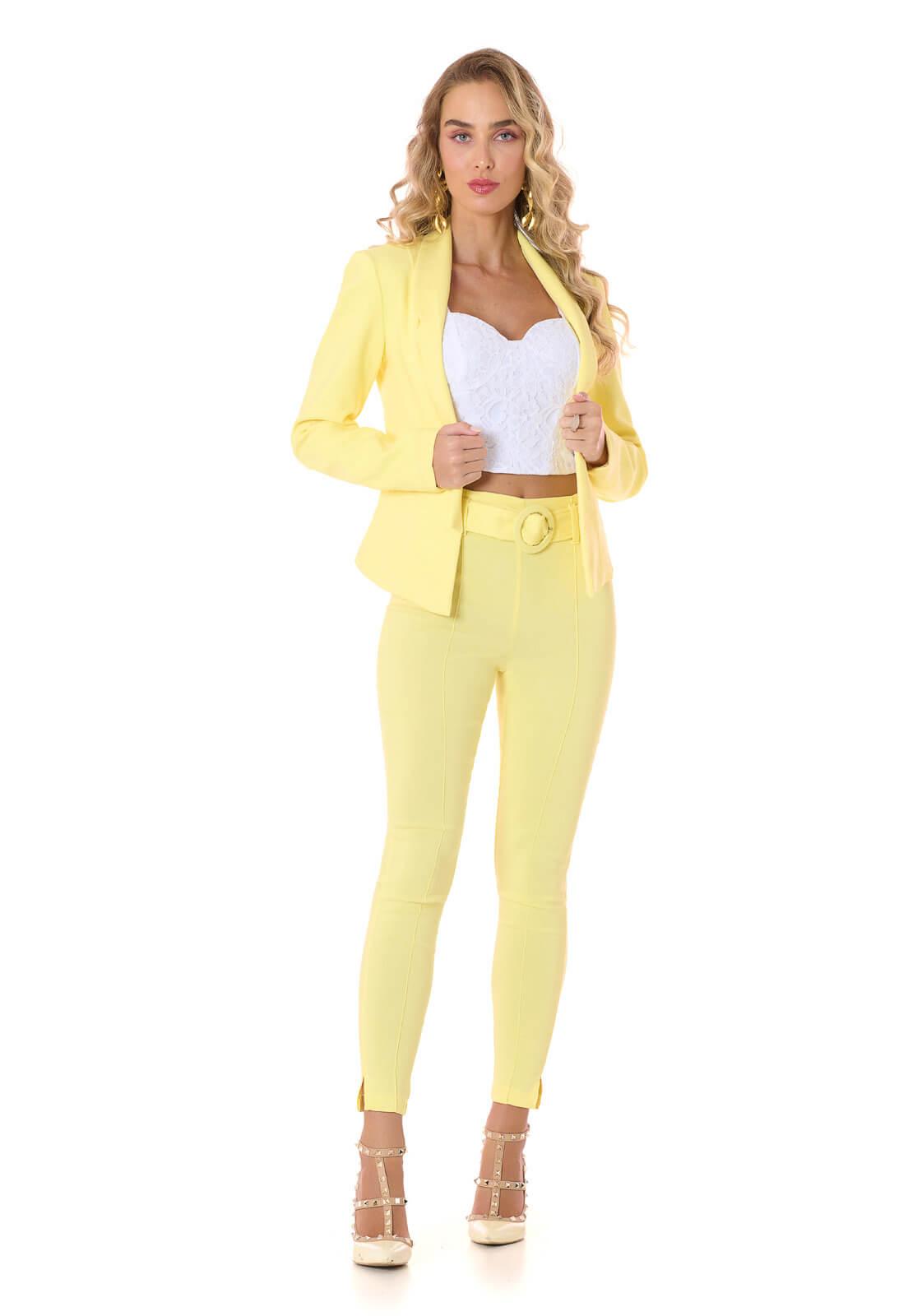 Blazer Bengaline Amarelo