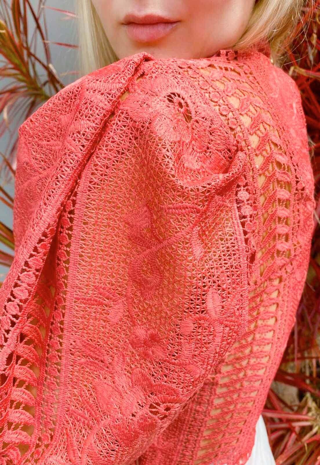 Blusa Guipir Rosa Velho