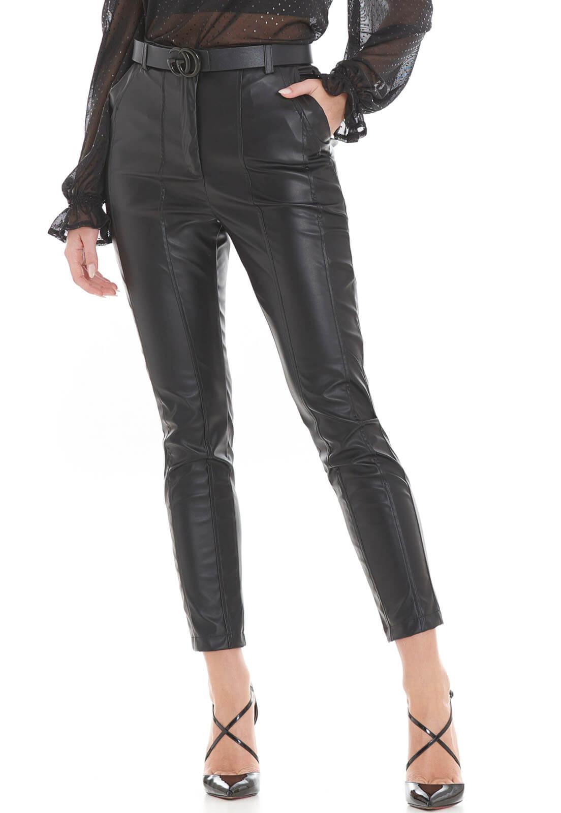 Calça PU Leather Preta