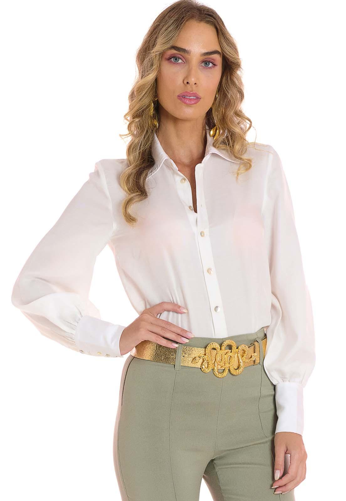 Camisa Manga Longa Branca Lala Dubi