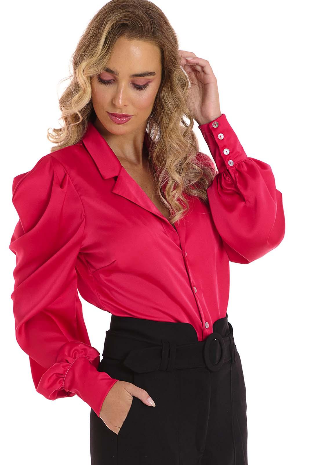 Camisa Manga Bufante Pink Lala Dubi
