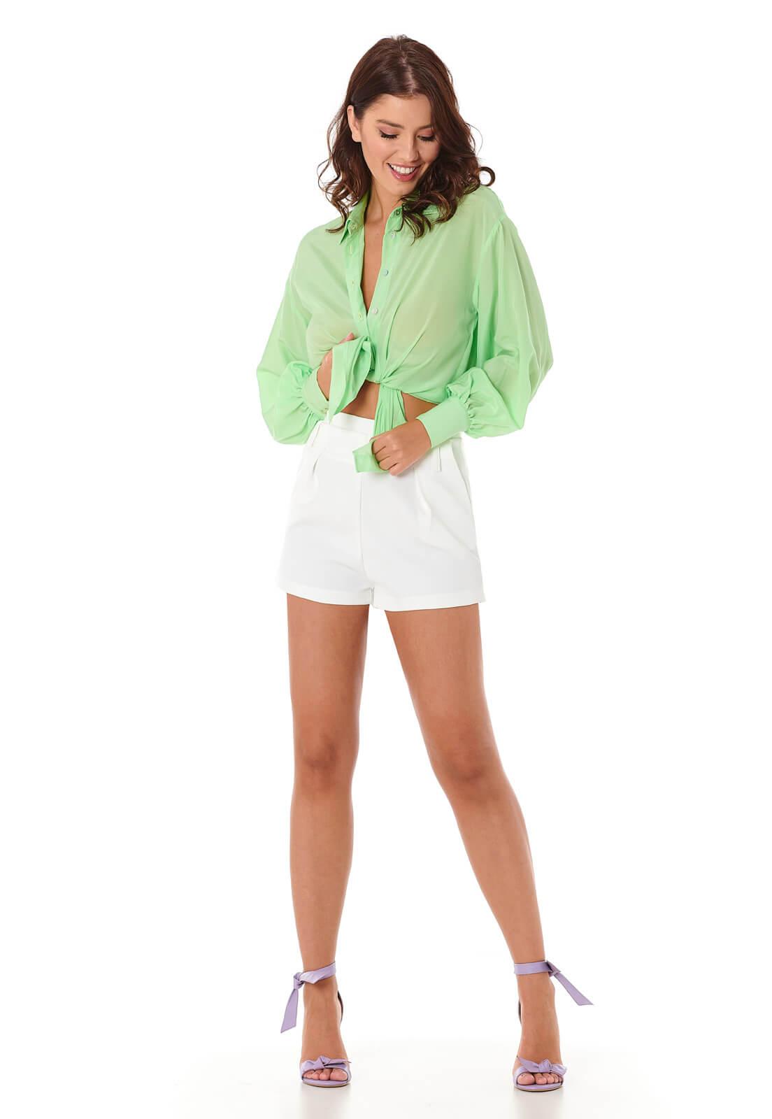 Camisa Manga Bufante Verde Ghost