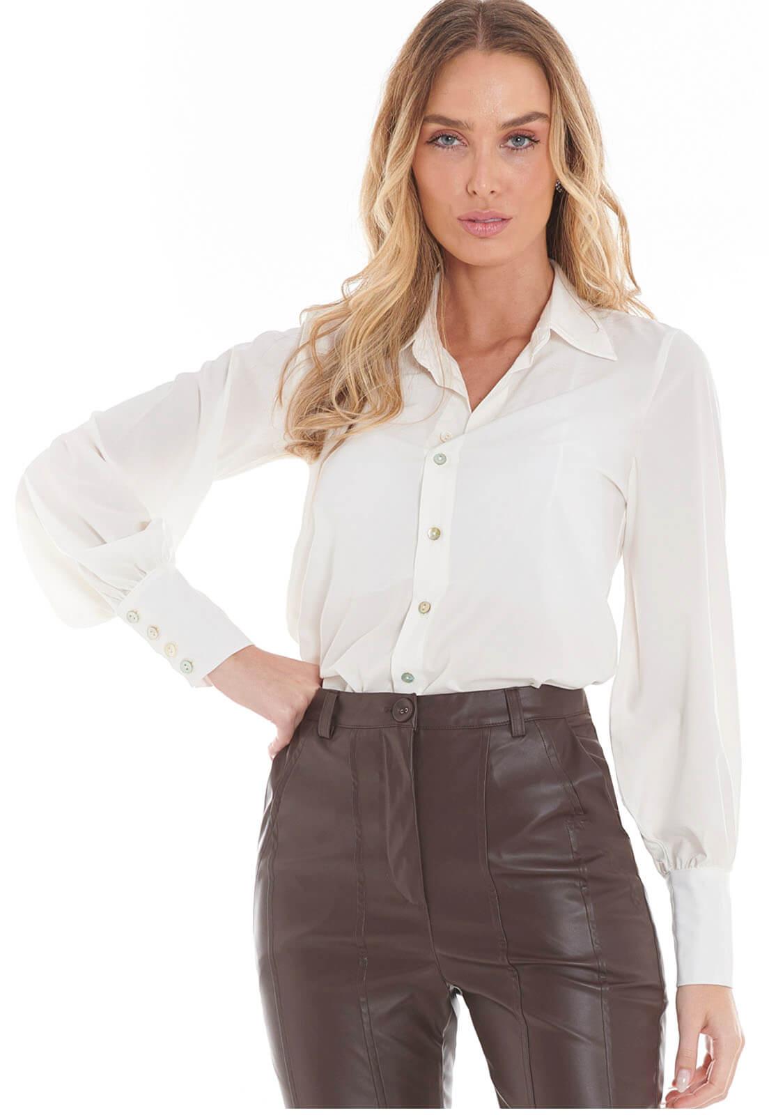 Camisa Manga Longa Off White