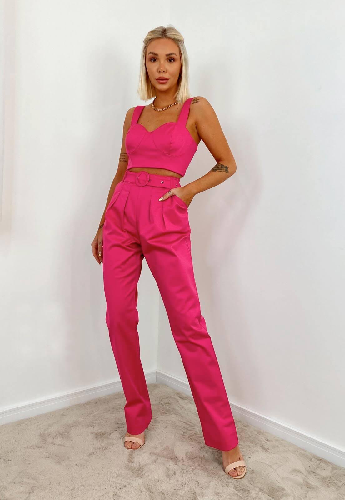 Top Acetinado Pink