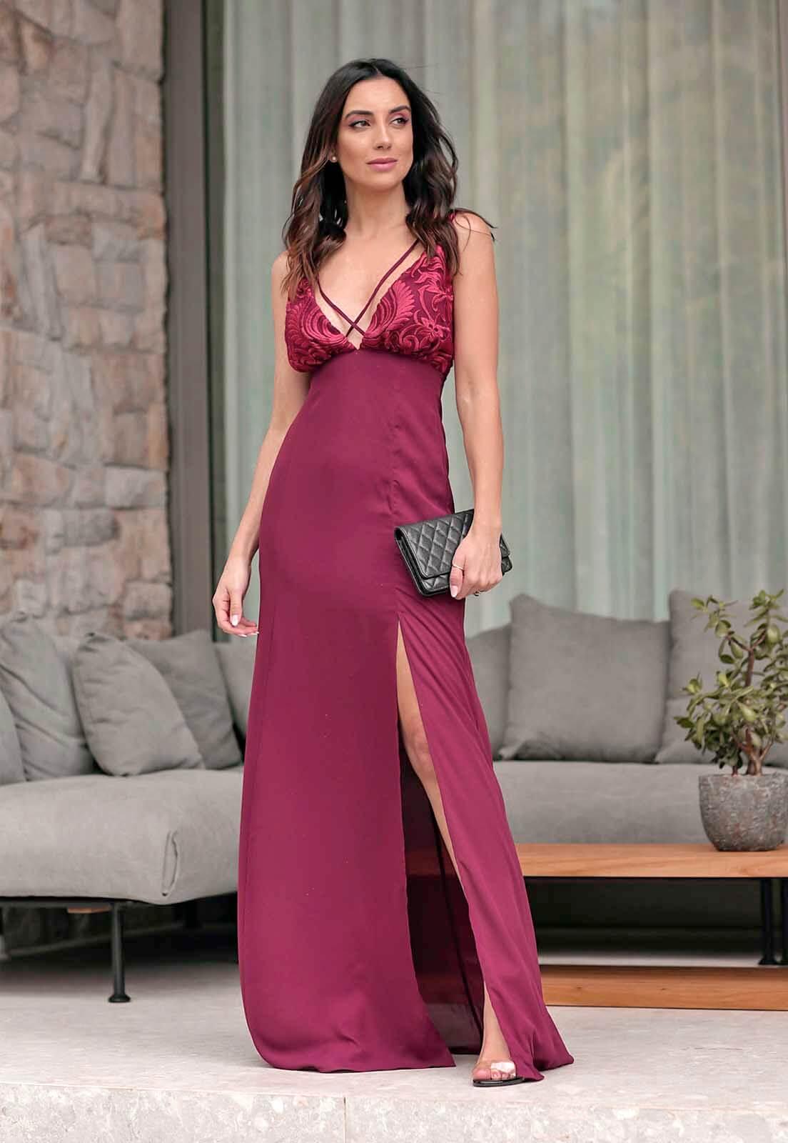 Vestido Arabesco Marsala