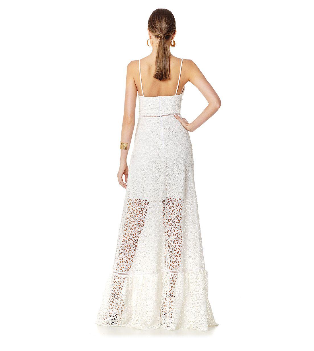 Vestido Longo Guipir Branco Lala Dubi