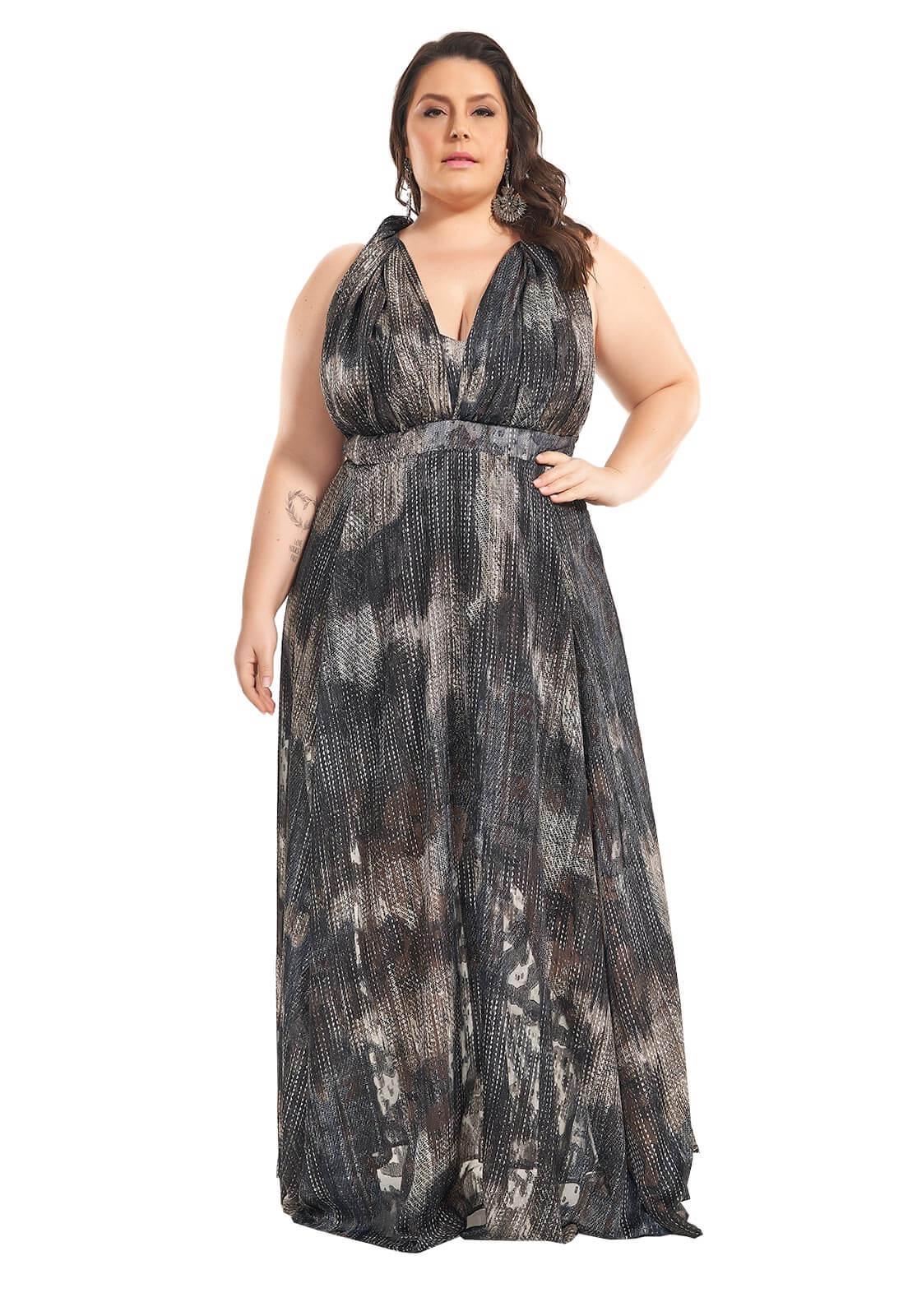 Vestido Longo Infinity Plus Size Étnico Lala Dubi