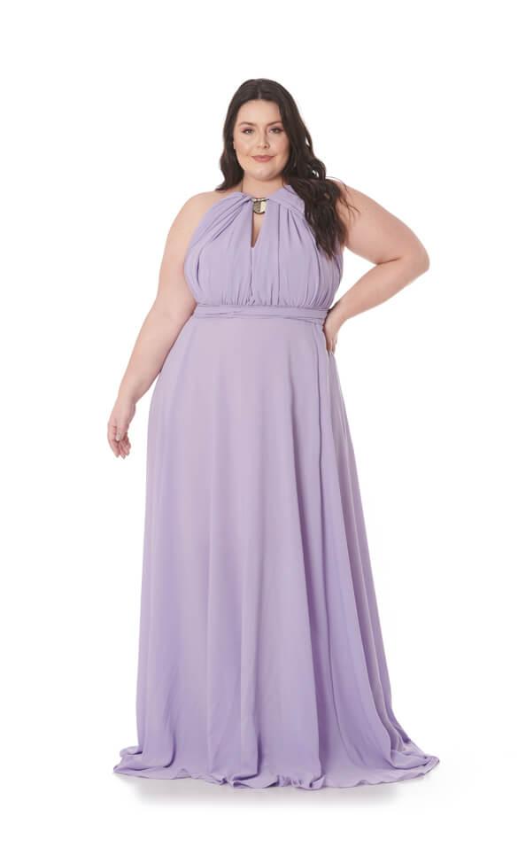 Vestido Longo Infinity Plus Size Lilás Lala Dubi