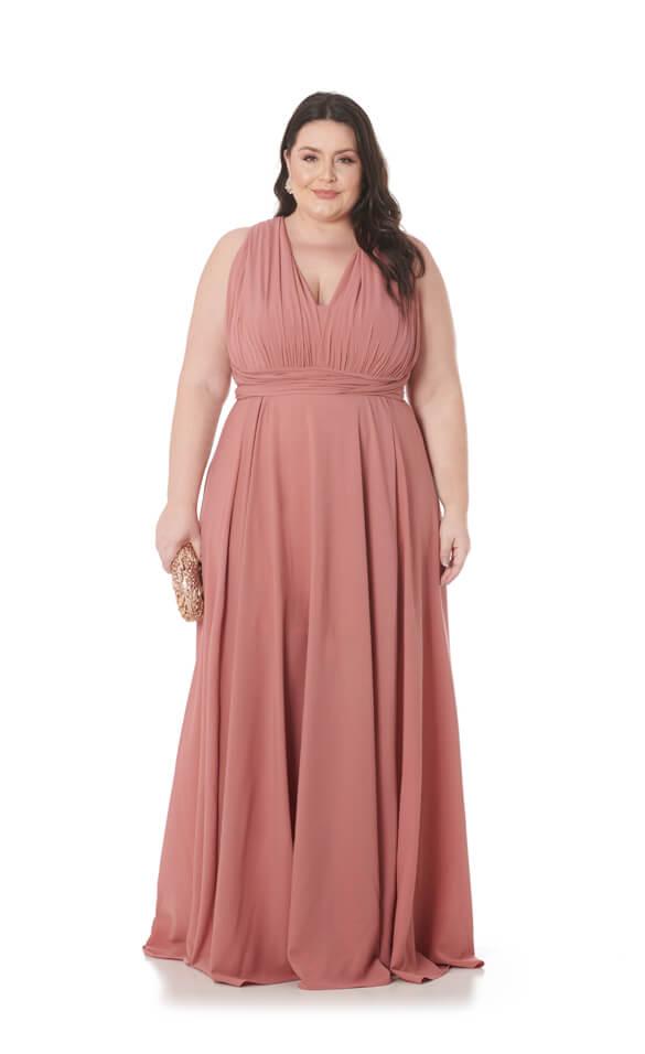 Vestido Longo Infinity Plus Size Rose Deluxe Lala Dubi