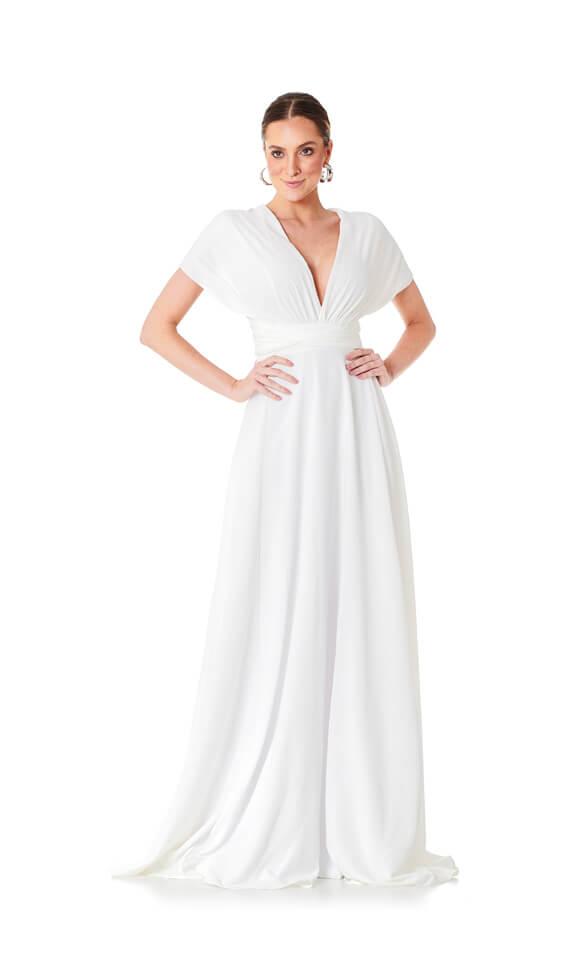 Vestido Longo Mil Formas Branco Lala Dubi