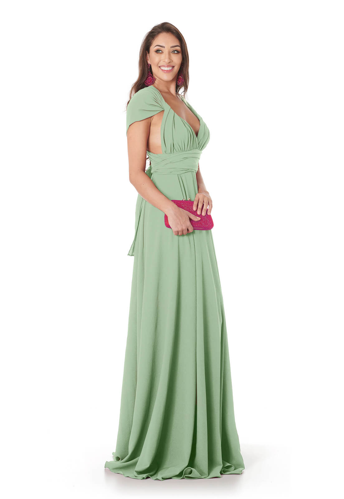 Vestido Longo Mil Formas Verde Claro Lala Dubi
