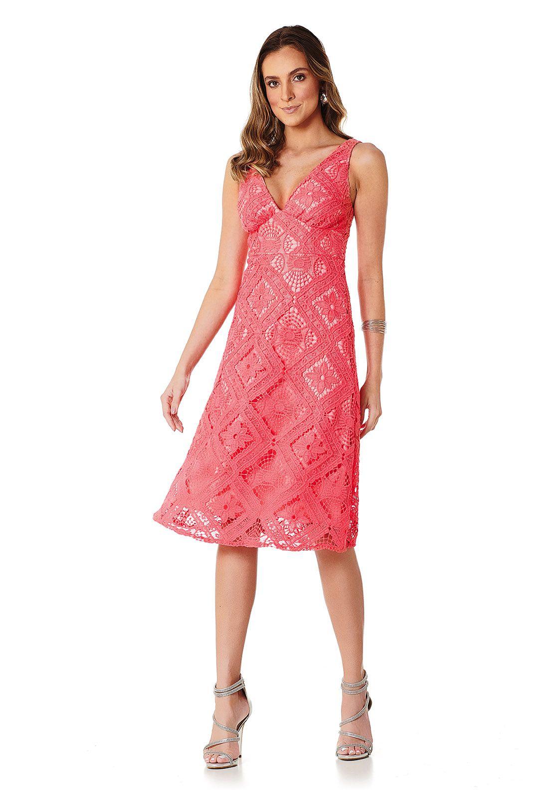 Vestido Midi Coral Lala Dubi