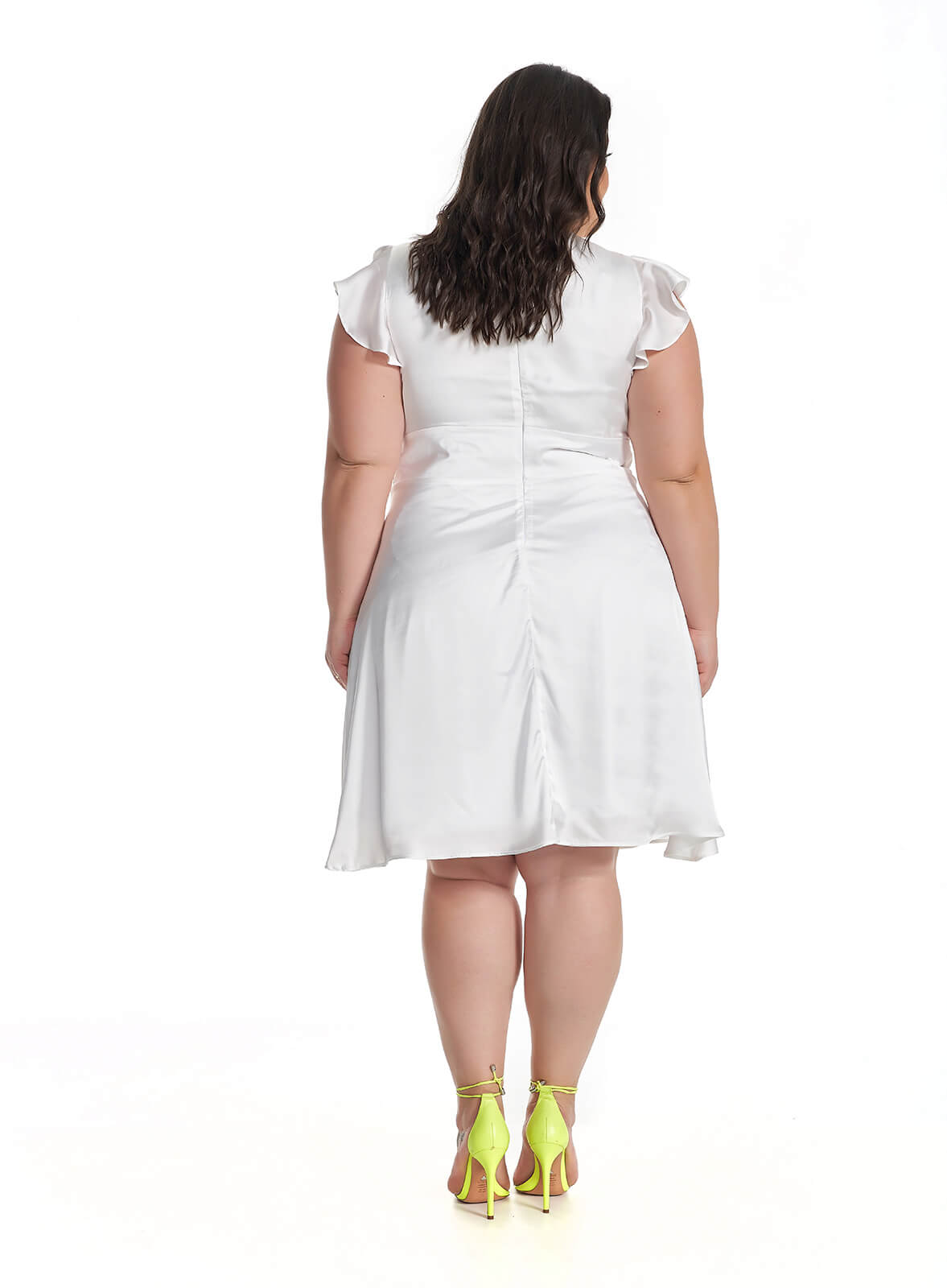 Vestido Midi Plus Size Branco