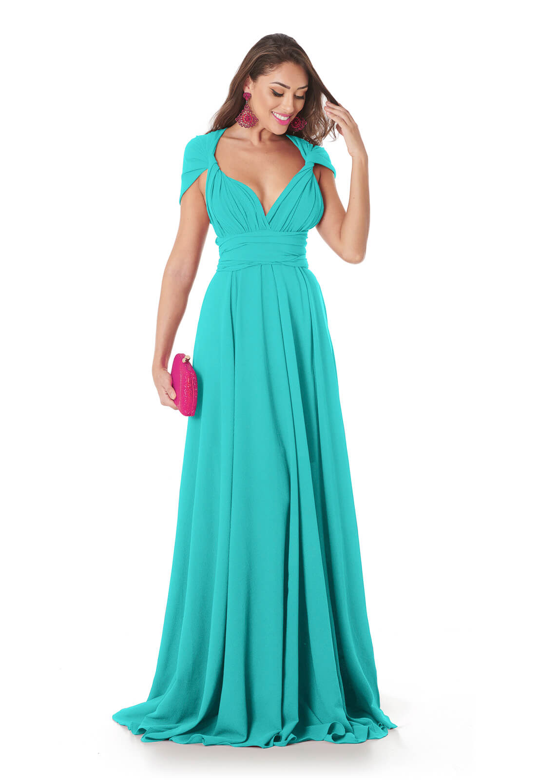 Vestido Mil Formas Azul Tiffany