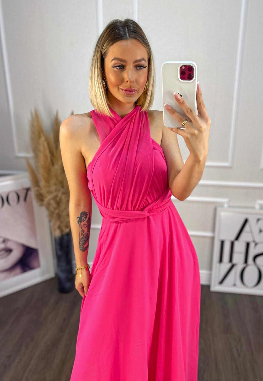Vestido Mil formas Chiffon Pink