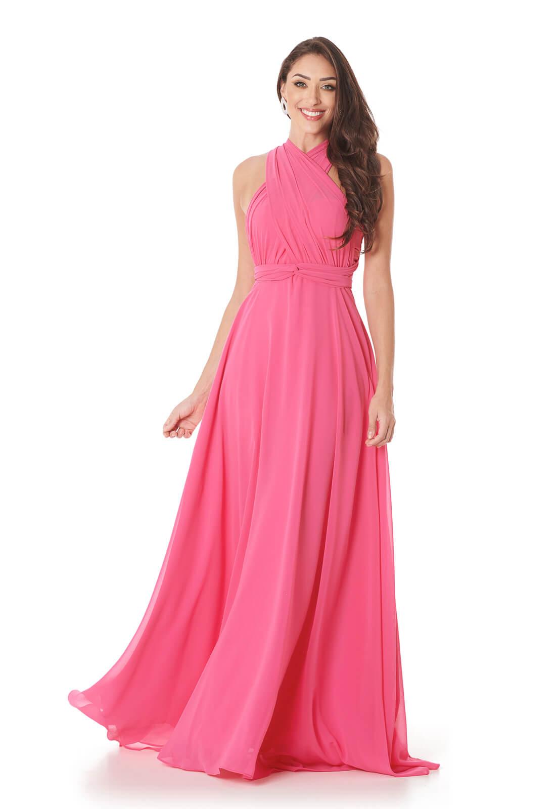 Vestido Mil formas Chiffon Pink Lala Dubi