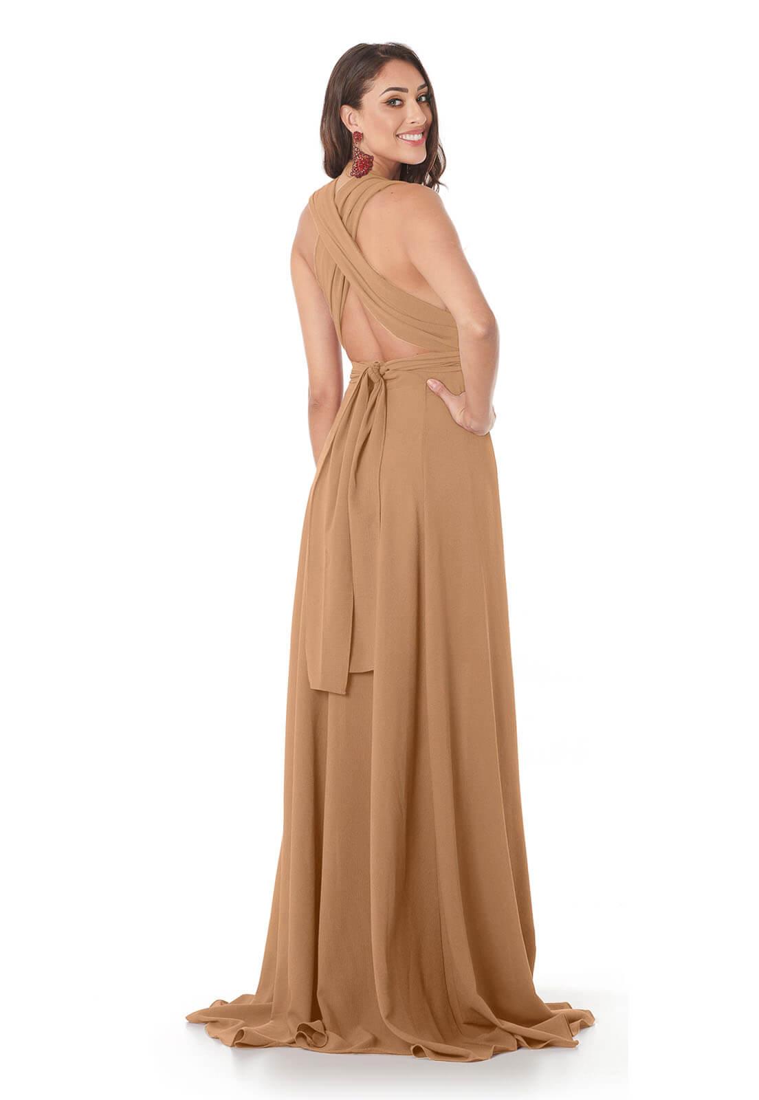 Vestido Longo Mil Formas Nude